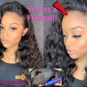 Detailed: Hot Glue Frontal Wig Making + Pro Install [Video]