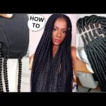 New Method! How To Box Braids Wig Like A Pro Using Crochet Hair [Video]