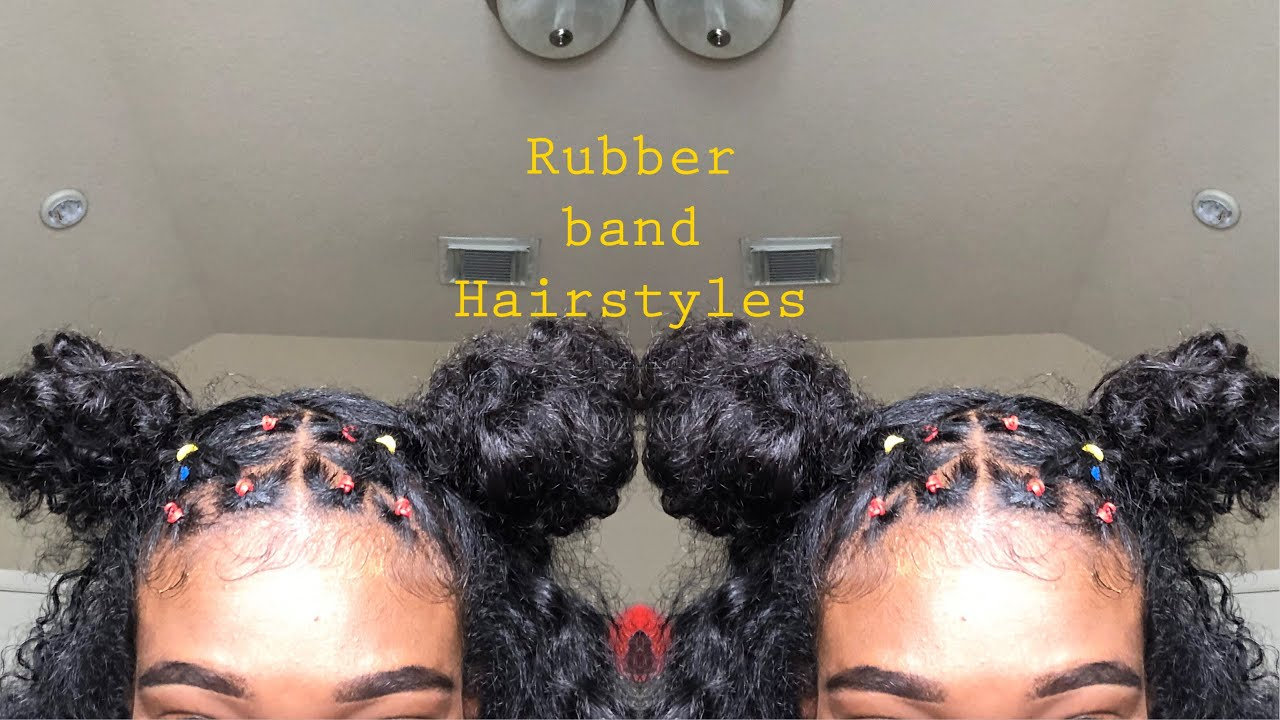 Rubber Band Hairstyles Natural Hair Video Black Hair Information