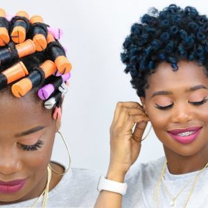 Voluminous Rod Set On Tapered Natural Hair [Video]