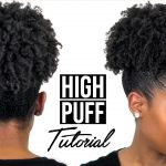 High Puff Tutorial On Medium Length Natural Hair (4B/4C Natural Hair)