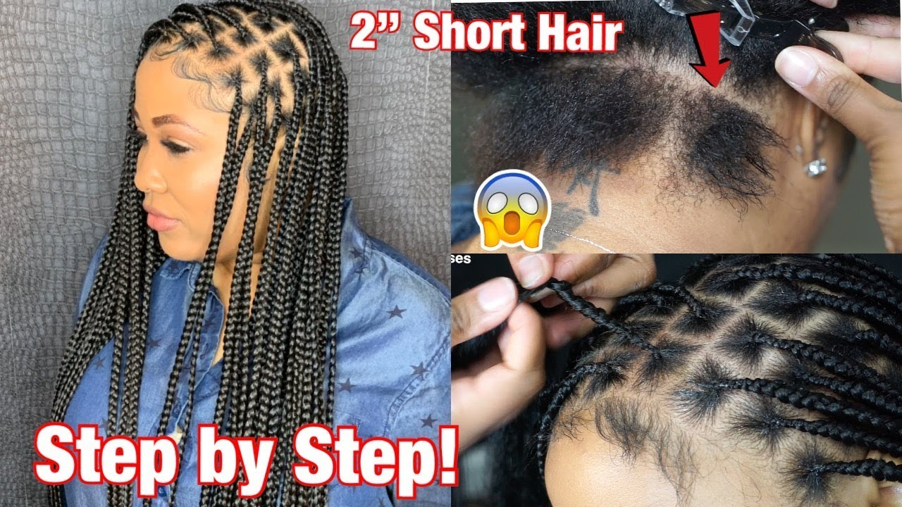 How To Do Knotless Box Braids On 1 Short Hair Video