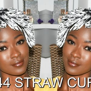 1044 Straw Curls In 15 Hours – Coffee Straws On Natural Hair [Video]