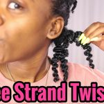 3 Strand Twistout On Natural Hair [Video]