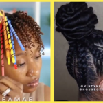 Twists Updo With Straw Set Bun, Kinky Ponytail Plus Other Easy Hairstyles For Natural Hair