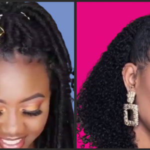 Realistic Curly Clip Ins, Twists & Puffs. Crochet Locs Plus Other Lovely Hairstyles