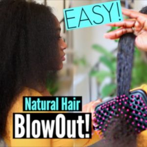 Easy No Damage Blowout On Natural Hair (Less Than 1 Hour)- Stretching Curly Hair