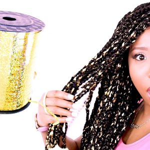 Box Braids With Ribbons! Step By Step Tutorial
