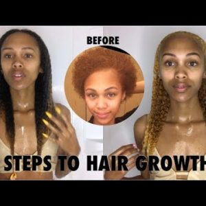 5 Steps/Tips For Natural Hair Growth [Video]