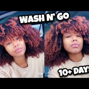Super Long Lasting Wash N Go Combo – Curls Lasted 10 Daysss