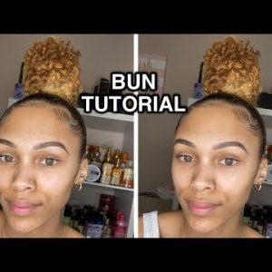 Curly Sleek High Bun – Natural Hair Styles