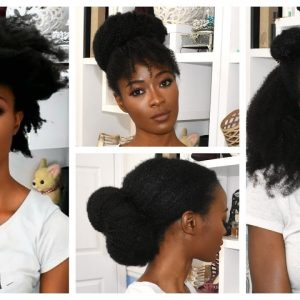 6 No Comb Natural Hairstyles Using 4B /4C Afro Kinky Clips-Ins
