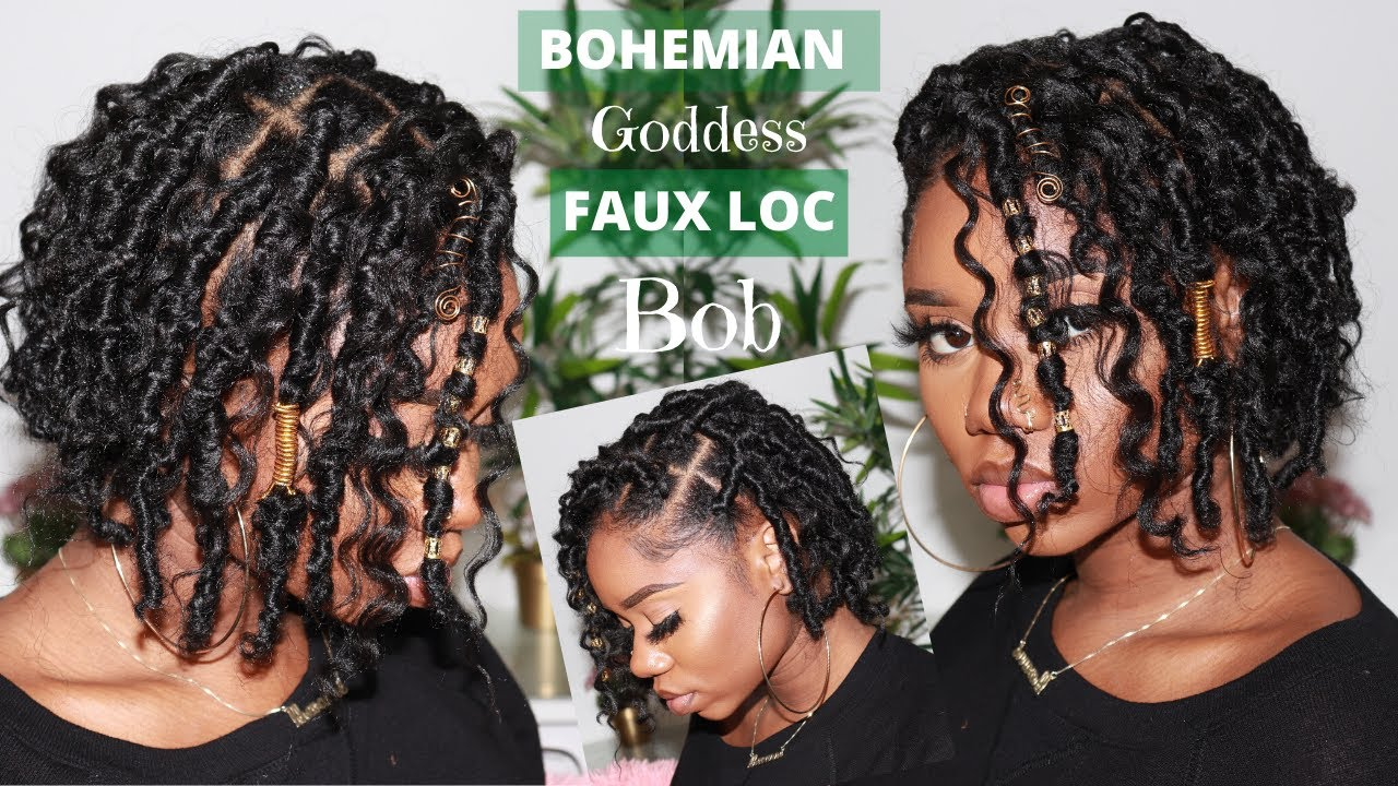 New Bohemian Goddess Faux Loc Bob Crochet Method No