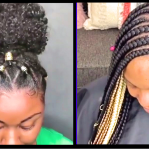 Textured Bun W/Clip-In, Side Swept Braids Style, Crown Twists, Side Swept Feed-In Braids