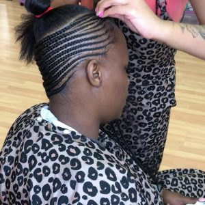 Separating The Braiding Hair For Small Feed In Lemonade Braids With Voice Over!