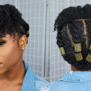 Natural Hairstyle: Flat Twist And Curly Bangs – How To Style Type 4 Hair