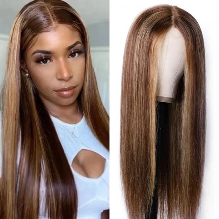 Nadula Straight Blonde 150% Density Natural Hairline Wig