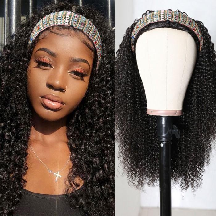 Nadula Afro Kinky Curly 3/4 Half Wig 150% Density Wig