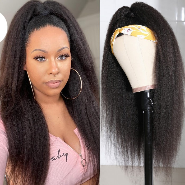 Nadula Kinky Straight Headband Half Wig Wand