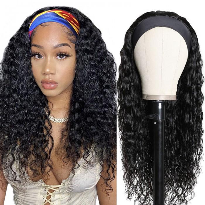 Nadula Water Wave Half Wig With Headband
